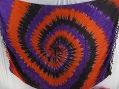 tiedye swirl sarong orange black purple - http://www.wholesalesarong.com/blog/tiedye-swirl-sarong-orange-black-purple/