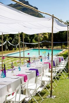Outdoor Celebration of Love & Colour {Winelands Wedding}   Confetti Daydreams - Colourful outdoor wedding reception with sheltered covering ♥  ♥  ♥ LIKE US ON FB: www.facebook.com/confettidaydreams  ♥  ♥  ♥