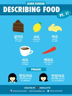 Describing Food Tastes in Korean
