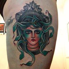 Cassandra Frances - Medusa tattoo