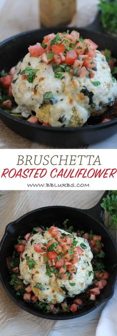 Bruschetta Roasted Cauliflower | Britt's Blurbs