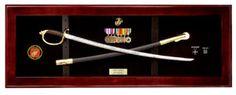 USMC NCO Sword Display Case, Sword Cases, Marine Sword frame