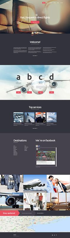 Private Business Airline Website #Joomla #template. #themes #business #responsive #Joomlathemes