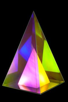 """Lamp """"Aurora pyramid"""" designed by Uglycute. Producer : WOODSTOCKHOLM www.woodstockholm.com Lava Lamp, Aurora, Tattoo Ideas, Furniture Design, Shapes, Lights, House, Home Decor, Products"""
