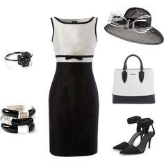 Preto e branco com chapeu