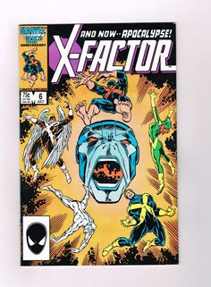 X-FACTOR #6 Gorgeous grade 9.4 Copper Age key: 1st APOCALYPSE (full) appearance!
