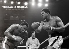 The Thrilla In Manilla. Iconic fight of Muhammed Ali and Joe Frazier (*.*)