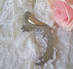Vintage Sterling Silver Bird of Paradise Brooch by CynthiasAttic