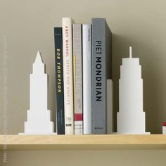 We've plucked iconic buildings from New York's world-famous skyline to create sturdy bookends for shelves or desks or kitchen counter tops.  Made from formaldehyde free and carbon compliant MDF and finished the durable epoxy, these classic icons will stand the test of time and passing fashion. #travel #iconic #play