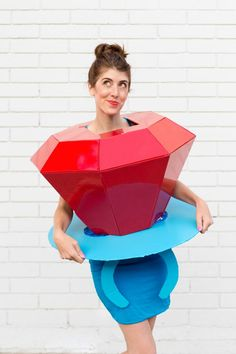 30+ DIY Food Halloween Costumes (For any age!) | studiodiy.com Best 80s Costumes, Food Halloween Costumes, Candy Costumes, Hallowen Costume, Unique Costumes, Creative Costumes, Diy Costumes, Food Costumes For Kids, Teen Costumes