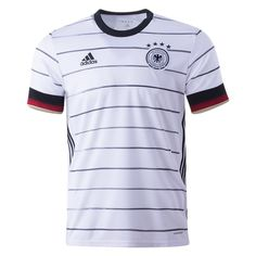Germany Euro 2020 Home Jersey Personalized Name and Number Gender: Men's Adult Model Year: 2020 Material: Polyester Type of Brand Logo: Embroidered Type of Team Badge: Embroidered Soccer Gear, Soccer Shirts, Soccer Cleats, Soccer Jerseys, World Soccer Shop, World Cup Jerseys, Fifa World Cup 2018, Design Campaign, Soccer