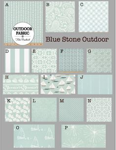 OUTDOOR Cushions- Outdoor Pillows- Outdoor Fabric- Box Cushions- Deck Cushions- Patio Cushions- Chair Cushions- BLUE STONE Glider Rocker Cushions, Outdoor Chair Cushions, Floor Cushions, Outdoor Fabric, Screened Porch Designs, Custom Cushions, Fabric Boxes, Box Cushion, Pillow Forms