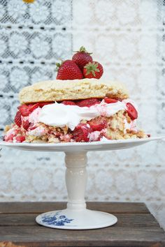 Triple Layer Strawberry Shortcake (scroll to the bottom for the recipe)