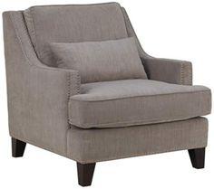 Skyler Heather Taupe Fabric Armchair | 55DowningStreet.com