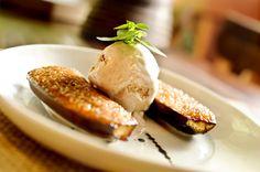 A receita de banana caramelada é servida no restaurante Maremonti (Foto: Tadeu Brunelli)