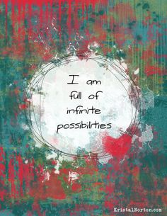 You Are Full of Possibilities {Free Printable!}