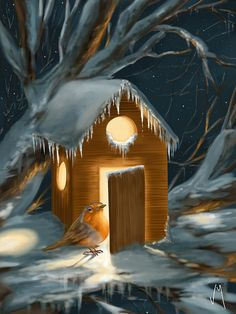 Christmas decoration, digital painting by Veronica Minozzi. Ipad and Sketchbookpro app.