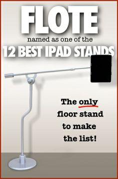 TeZeal.com names FLOTE is the best iPad tablet floor stand. FloteYourTablet.com  #ipad, #ipad#accessories, #ipad#stands