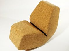 Made of recyclable natural rubber foam covered with cork leather.  Design by Rodrigo Vairinhos of Neo Studios with offices in Portugal and Germany.  www.neo-studios.de