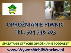 Sprzątanie strychów i opróżnianie piwnic we Wrocławiu. tel 504-746-203, opróżnianie piwnic, sprzątanie garaży, utylizacja mebli, rzeczy, czyszczenie strychów, wywóz gabarytów, odbiór starych mebli, wywóz wersalki, wywóz starej kanapy, wywóz sofy, materaca, wywóz mebli ze zniesieniem, wywóz meblościanki, komody, szafy, mebli z kuchni, wywóz starych ubrań, niepotrzebnej odzieży, talerzy, wyposażenie mieszkań oraz strychów. http://wywozmebliwroclaw.pl/