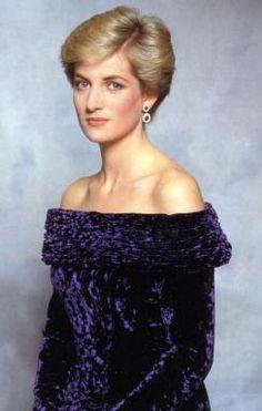 Portrait of young Princess Diana