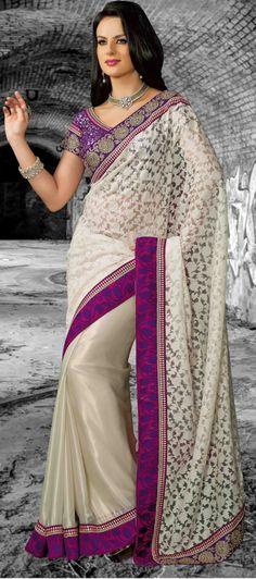 Silk Cream Bollywood #Designer Saree