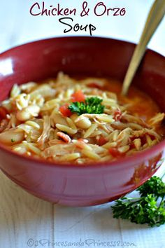 Chicken and Orzo Soup - #Soup #Recipes