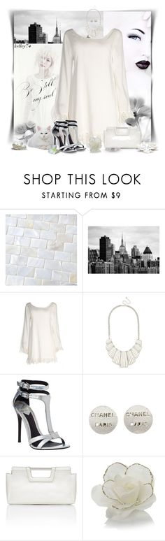 """White-Out"" by kelley74 ❤ liked on Polyvore featuring Merola, Disney, B Brian Atwood, Chanel, The Limited, Red Herring and Lane Bryant"