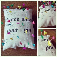 speldenkussen gemaakt. idee gevonden op #pinterest #handmade #poweredbyrenee