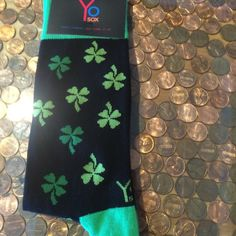 YOSOX Men's crew - shamrock, clovers , Irish YOSOX is partnered with food banks of America and is based on a buy one, give one premise. Every pair of socks provides a meal for someone in need. NWT! Price is firm unless bundled (bundles get 10% off) . Sorry we don't trade. Fits size 7-12. Yo sox Accessories