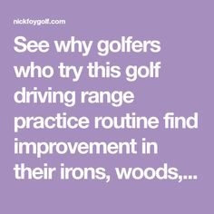 See why golfers who try this golf driving range practice routine find improvement in their irons, woods, hyrbrids, and driver shots..click to read. Range Targets, Golf Room, Golf Range, Golf Instructors, Volleyball Tips, Golf Putting Tips, Golf Practice, Golf Tips For Beginners, Gym Workout Tips