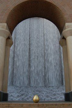 Waterwall Park is a multi-story sculptural fountain which is a highly visited attraction in Houston, Texas.