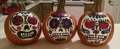 Freehand Painted Pumpkins