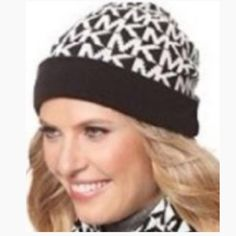 Michael Kors Beanie Hat Michael Kors 100% authentic Beanie Hat for women or men  * Authentic  * New with tags  * Unisex (women or men)  * Black with white MK signature logo  * One size  * 50% Acrylic and 50% wool  * hand wash Michael kors Accessories Hats