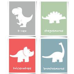 Dinosaur Wall Art Set