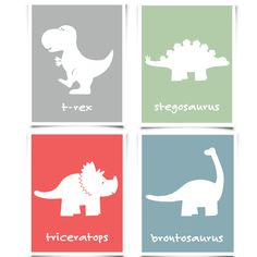 Dinosaur Wall Art Set