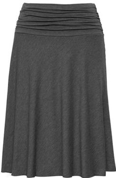Ruched Waist Skirt (Knee Length)...So simple could make so many outfits with this.