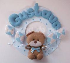 Enfeite Porta Maternidade Urso Pipas | Bolinha de Pano | 1DEE1F - Elo7