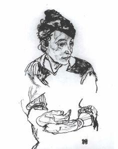 egon shiele porttraits drawing - Pesquisa do Google