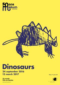 Museum of Natural History Geneva: Dinosaures 6 Kids Graphic Design, Graphic Design Posters, Graphic Design Typography, Book Design, Poster Layout, Typo Poster, Zine, Posters Conception Graphique, Dinosaur Museum
