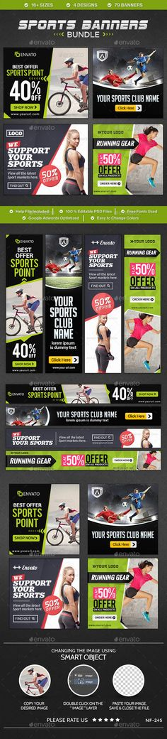 Sports Banners Bundle - 4 sets on Behance