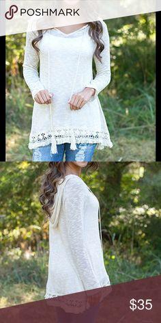 Boho Lace Hooded Top Boho Lace Hooded Top Tops Sweatshirts & Hoodies