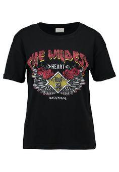 Vila VIBEOBI - T-Shirt print - black für 19,95 € (29.08.17) versandkostenfrei bei Zalando bestellen.