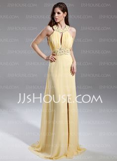 Prom Dresses - $136.99 - A-Line/Princess Scoop Neck Sweep Train Chiffon Prom Dress With Ruffle Beading Sequins (020015594) http://jjshouse.com/A-Line-Princess-Scoop-Neck-Sweep-Train-Chiffon-Prom-Dress-With-Ruffle-Beading-Sequins-020015594-g15594?no_banner=1&utm_source=facebook&utm_medium=post&utm_campaign=6005941673279&utm_content=130919J_3