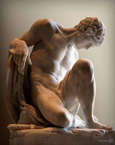Gladiador agonizando 1776, Museo del Louvre. Pierre Julien 1731-1804