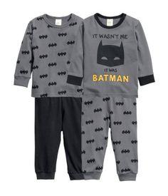 2-pack pyjamas | Dark grey/Batman | Kids | H&M ZA