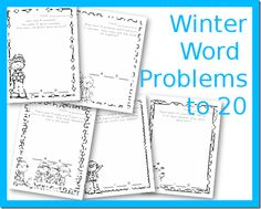 Winter Word Problems to 20