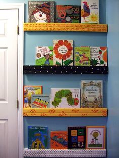 sara's art* house: a book wall!