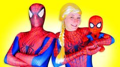 Spiderman & Frozen Anna-Elsa- Elsa Frozen-Spider-Spiderman-Anna-Malefice...