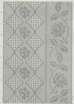 Kira scheme crochet: Scheme crochet no.Vogue Dictionary of Crochet St Filet Crochet Charts, Crochet Borders, Crochet Motif, Crochet Designs, Crochet Doilies, Knit Crochet, Crochet Patterns, Crochet Curtains, Crochet Tablecloth